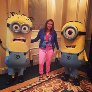 Kristi Gibson meets the minions