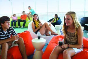 Youth Zone, teens, teen program, back deck, living room, lounge, Adventure Ocean, Oasis of the Seas, OA, Oasis Class, Allure of the Seas